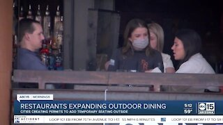 Restaurants expanding outdoor seating amid pandemic