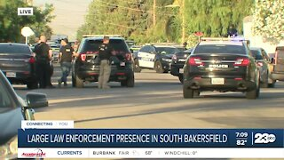 Large law enforcement presence in south Bakersfield