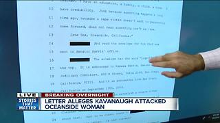 Oceanside woman claims Kavanaugh attacked her