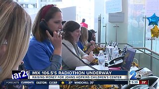 Mix 106.5's radiothon underway, raising money for Johns Hopkins Children's Center