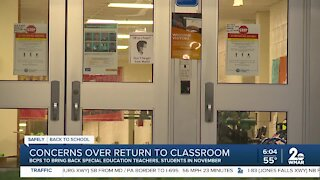 Concerns over return to classroom