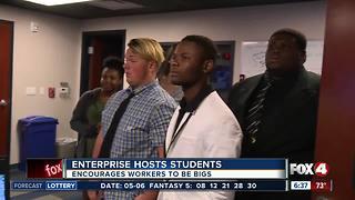 Local business community mentors students