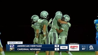 American Heritage shuts out Cardinal Newman