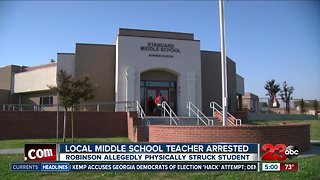 Local teacher arrested after allegedly hitting a student