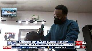 Barbershop owner makes history