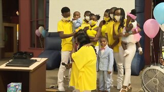 Woman adopts 3 children to make a total of 9 adoptions