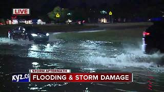 Several roads closed in metro Detroit due to flooding