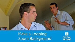 How to create a looping Zoom background