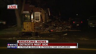 6 people injured in house explosion in Detroit