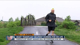 Heart transplant recipient runs for his life in the Flying Pig