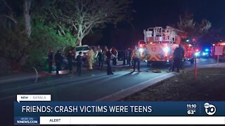 Friends ID crash victims as teenagers