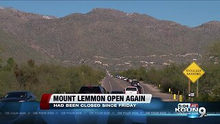 Road to Mount Lemmon opens