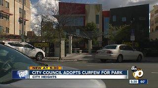 San Diego City Council OK's curfew at 5 parks