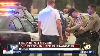 Driver arrested in Santee hit-and-run that injured pedestrian