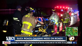 Driver ejected, good Samaritan hit after rollover on I-8 in Mission Valley
