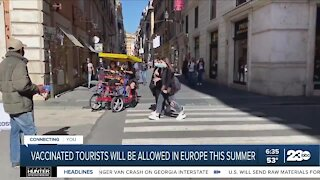 Vaccinated tourists will be allowed in Europe this summer