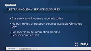Holiday Office closures in Lee County