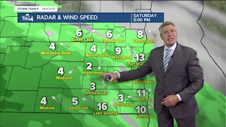 Saturday is sunny with temps in the 40s