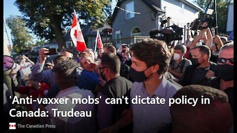 Trudeau Pelted With Debris in London Canada, But Canadians Really Love JT