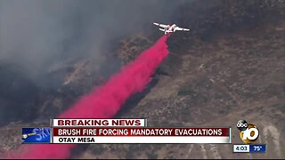 Caliente Fire forcing mandatory evacuations in Otay Mesa