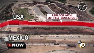 Secondary border wall construction starts