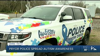 Pryor Creek Police Raise Autism Awareness With New Vehicle
