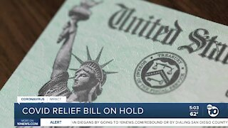COVID-19 relief bill on hold after Trump's veto threat
