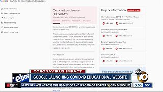 Google launching COVID-19 educational website