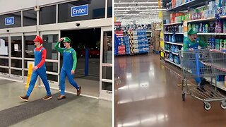 Supermarket Smash Bros Cause Comedic Chaos By Turning Local Walmart Into A Mario Kart Racetrack