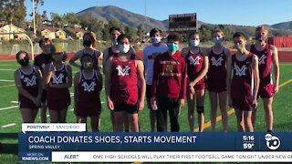Spring Valley coach donates shoes to students, sparking movement