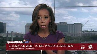 Del Prado Elementary student tests positive for coronavirus