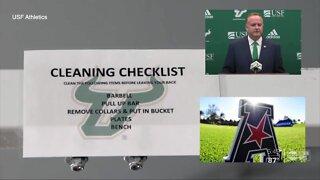 USF head coach Jeff Scott addresses future COVID-19 scenarios