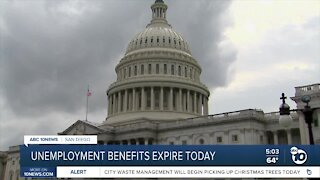 Unemployment benefits expire on Saturday as relief bill still sought