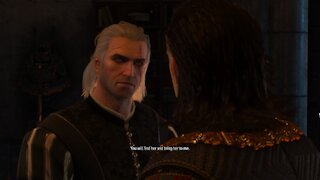 Geralt speaking with the Emperor