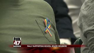 Rally supports school board members fighting to keep their seats