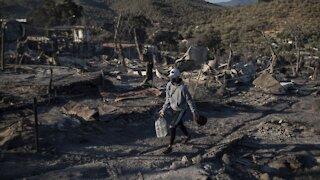 Greek Refugee Camp Destroyed After Second Fire In 1 Week