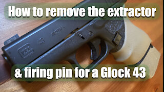 How to remove the extractor and firing pin for a Glock 43