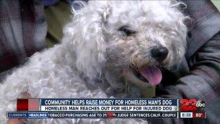 Community raises money for homeless man's dog