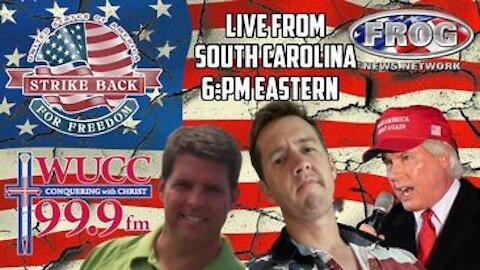 Live from Beaufort South Carolina. Jeff Davis Seth keshel Lin Wood 6:00 pm est
