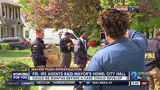 Day after raids Pugh's future still remains uncertain