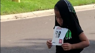 Kid Can't Find Any Motivation To Finish A Running Race