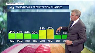 Chance of showers Saturday with highs in the 50s