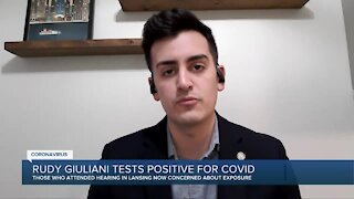 Some Michigan lawmakers concerned about COVID-19 exposure after Rudy Giuliani tests positive for COVID-19