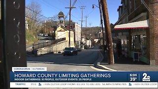 Howard County limiting gatherings starting at 5 p.m.