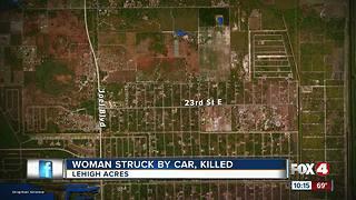 Woman Struck by Car, Killed