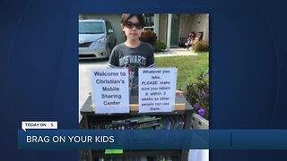Brag About Your Kids: Boy creates 'book borrow' in his Boca Raton neighborhood