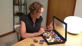 MSU professor went to the Olympics twice as a competitor. Her art is there this year.