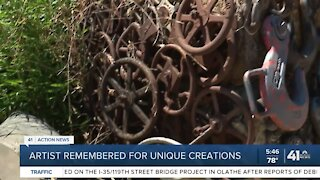 Artist remembered for unique creations