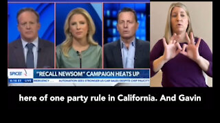 """Rick Grenell says """"we have a long history of 1 party rule here in CA, ..."""