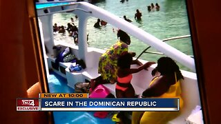Woman receives scare in the Dominican Republic